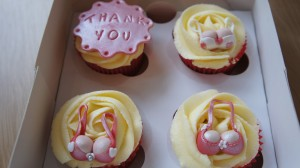 Cupcakes with decoration inspired by breast implants