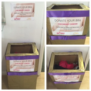 Aurora Clinics: Photo of our Bra Recycling Scheme